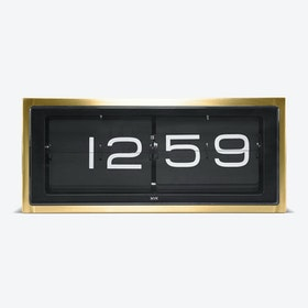 Brick Table Clock - Black