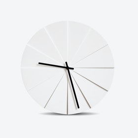 Scope Wall Clock - White
