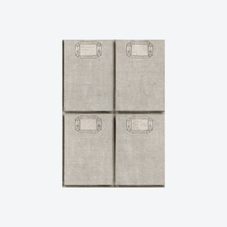 Fabric Covers Taupe Wallpaper