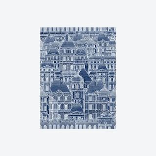 Louvre Blue Wallpaper