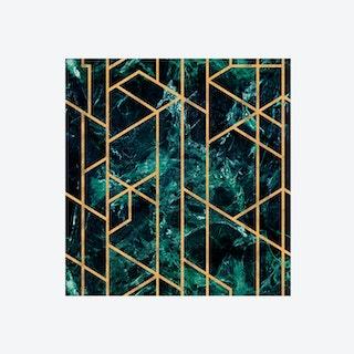 Gramercy Emerald Wallpaper
