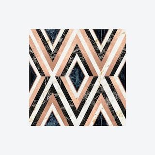 Diamonds in Copper Wallpaper