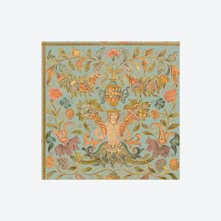 Brocade Powder Wallpaper