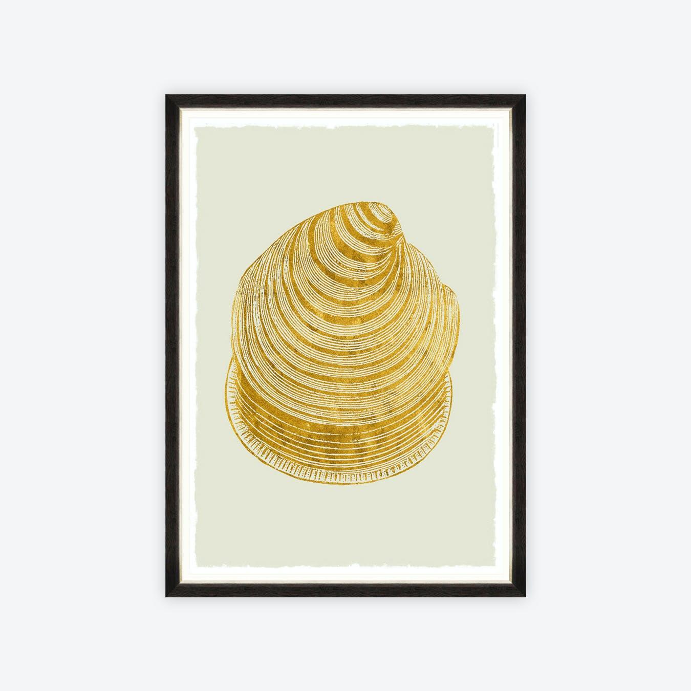 Golden Seashell I Framed Art