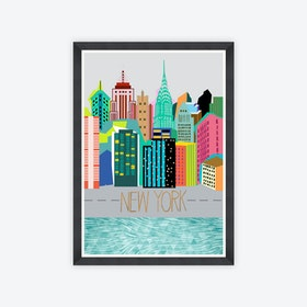 Colours of NY Framed Art