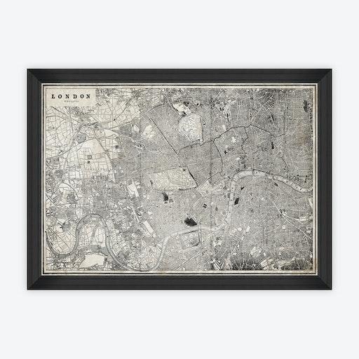 London Map Framed Art