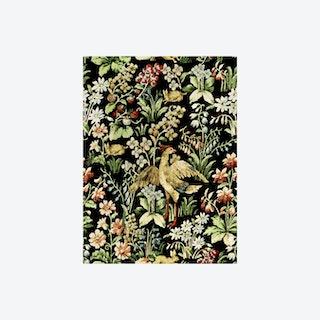 Floral Tapestry Dark Wallpaper