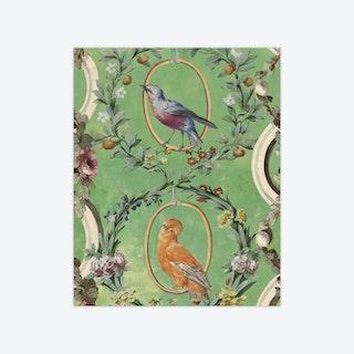Countesse'S Aviarium Mint Wallpaper