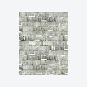 Rusted Metal White Wallpaper