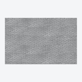 Silver Grey Brick Wallpaper