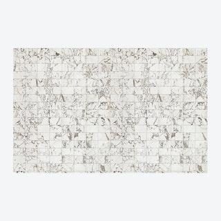 Large White Tiles Wallpaper