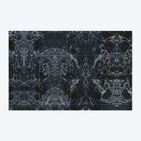Black Tiles Mirrored Wallpaper
