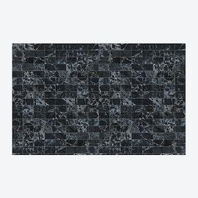 Large Black Tiles Wallpaper