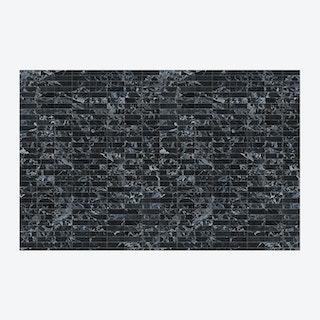 Medium Black Tiles Wallpaper