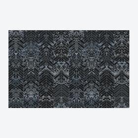 Black Tiles Herringbone Wallpaper