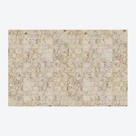 Large Beige Tiles Wallpaper