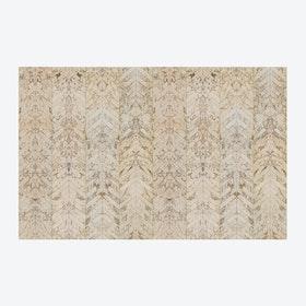 Beige Tiles Herringbone Wallpaper