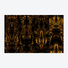Black Metallic Marble Mirrored Wallpaper