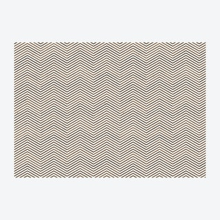 Scrapwood on Teak Chevron Wallpaper