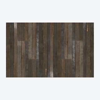 Scrapwood Coated Wallpaper - Brown