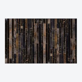 Scrapwood Coated Wallpaper - Black