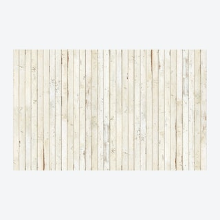 White Scrapwood Coated Wallpaper