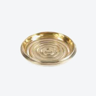 Nickel-Plated Coin Edge Bottle Coaster