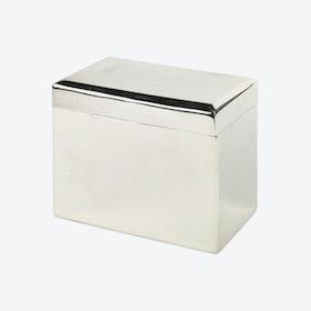 Silver Plated Brass Beveled Keepsake Box
