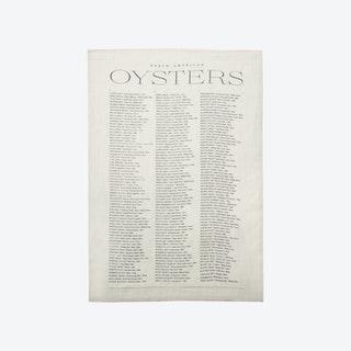 Oyster List Tea Towel