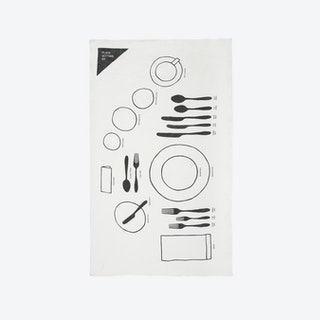 Place Setting Tea Towel