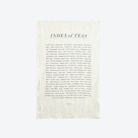 Tea List Tea Towel
