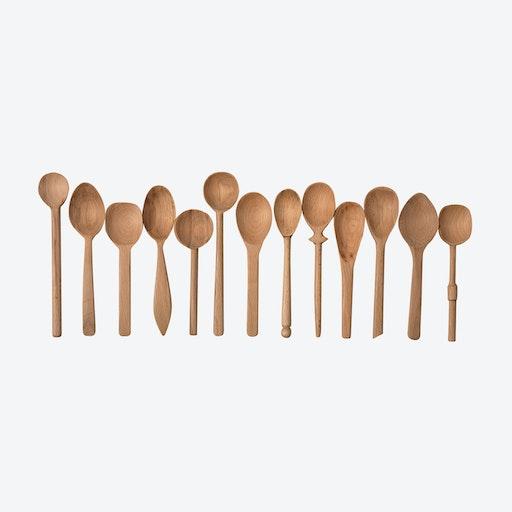 Baker's Dozen Beachwood Spoons - Small (set of 13)