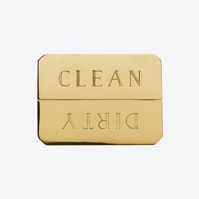 Solid Brass Clean/Dirty Dishwasher Magnet