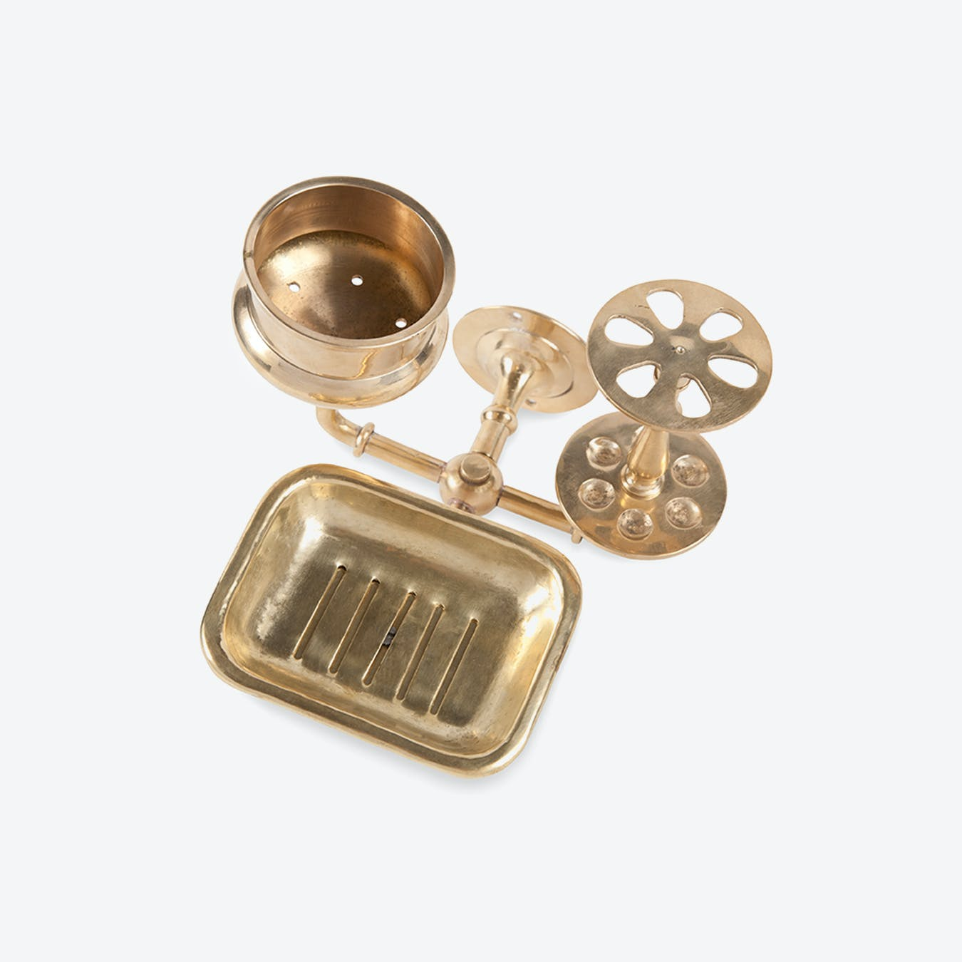 Brass Bath Holder Trio