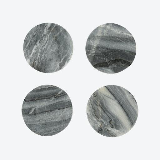 Grey Marble Coasters (set of 4)