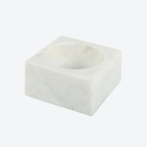 White Marble Modernist Bowl