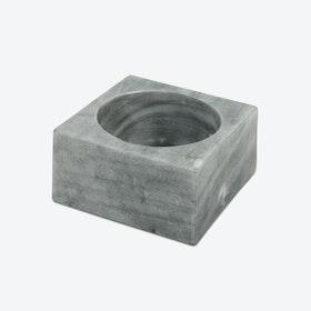 Grey Marble Modernist Bowl