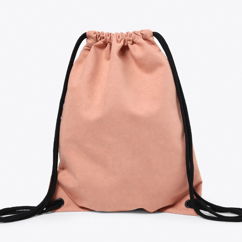 Vegan Suede Backpack in Apricot