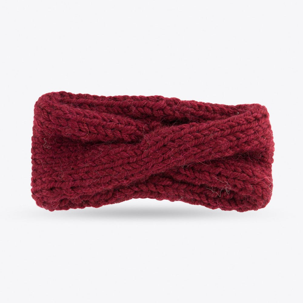 Turban Headband in Burgundy
