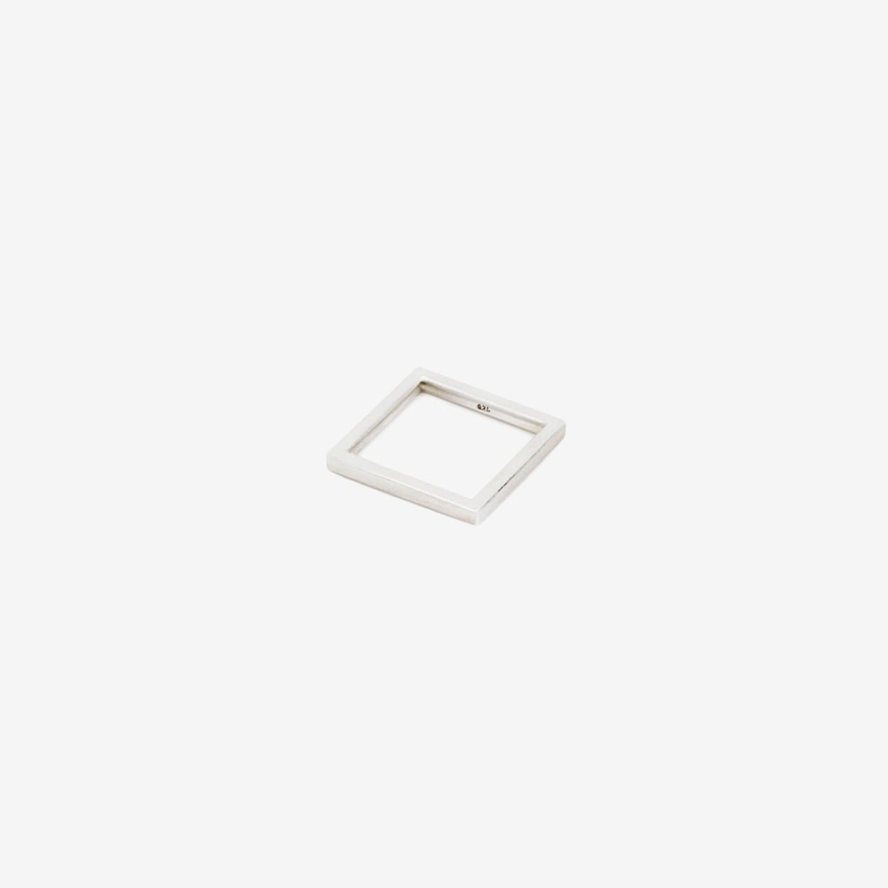 SQUARE Ring in Silver 2 - B KREB