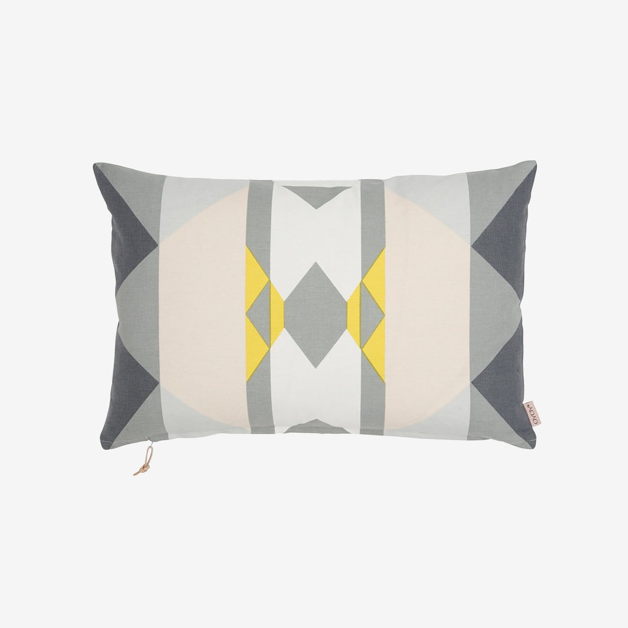 Boho Cushion  in Yellow/Grey/Shell - OYOY