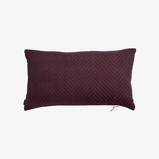 Fluffy Herringbone in Aubergine - OYOY