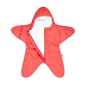 Coral Star Fleece Wrap - Baby Bites