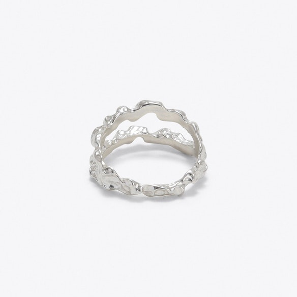 752a7bfdf Double Meteor Ring in Silver - Matthew Calvin by Fy! Outlet - Fy