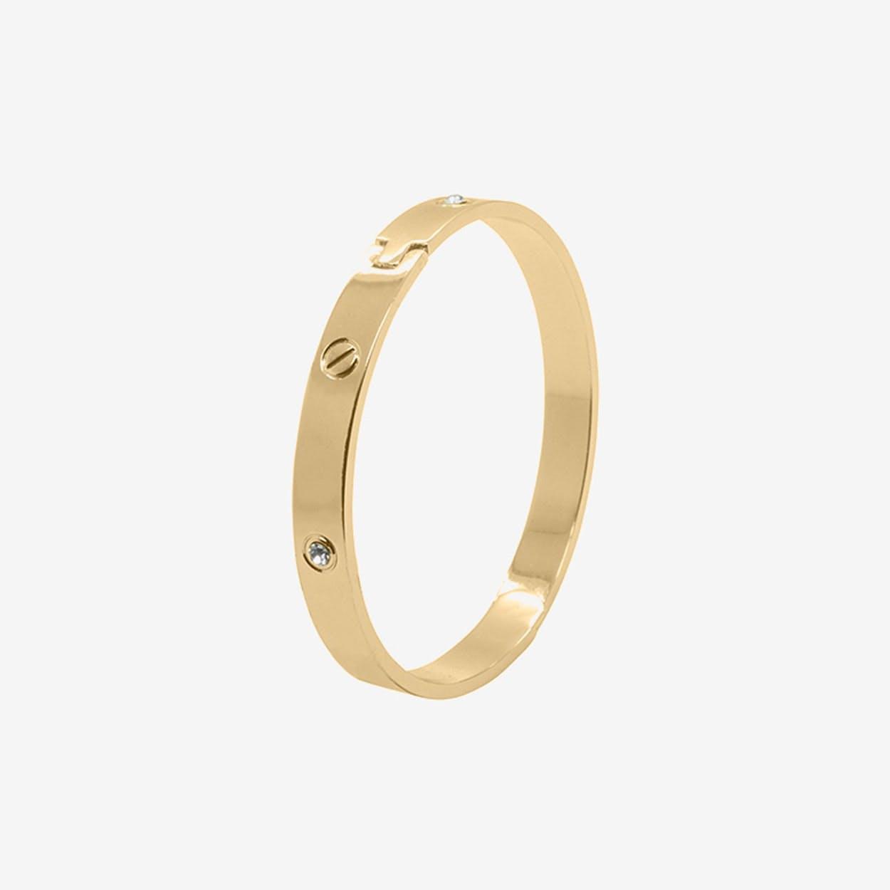 Love Bangle in Gold - Lovett & Co
