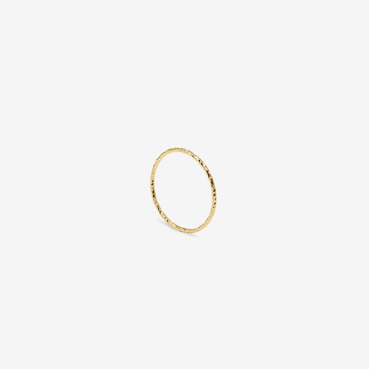 Ultra Skinny Diamond Stacking Ring in Gold - MYIA BONNER
