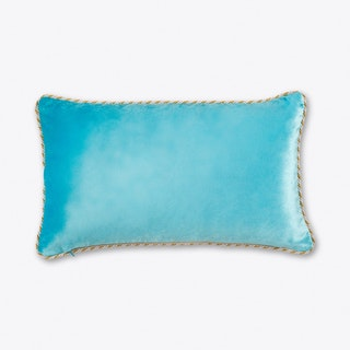 Pale Blue Velvet Cushion Small - BIVAIN