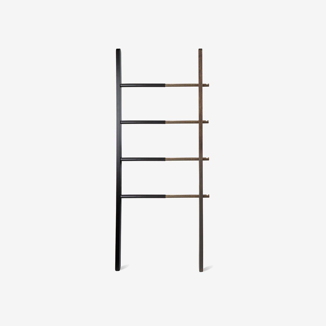 Hub Ladder Rack in Black/ Walnut - Umbra