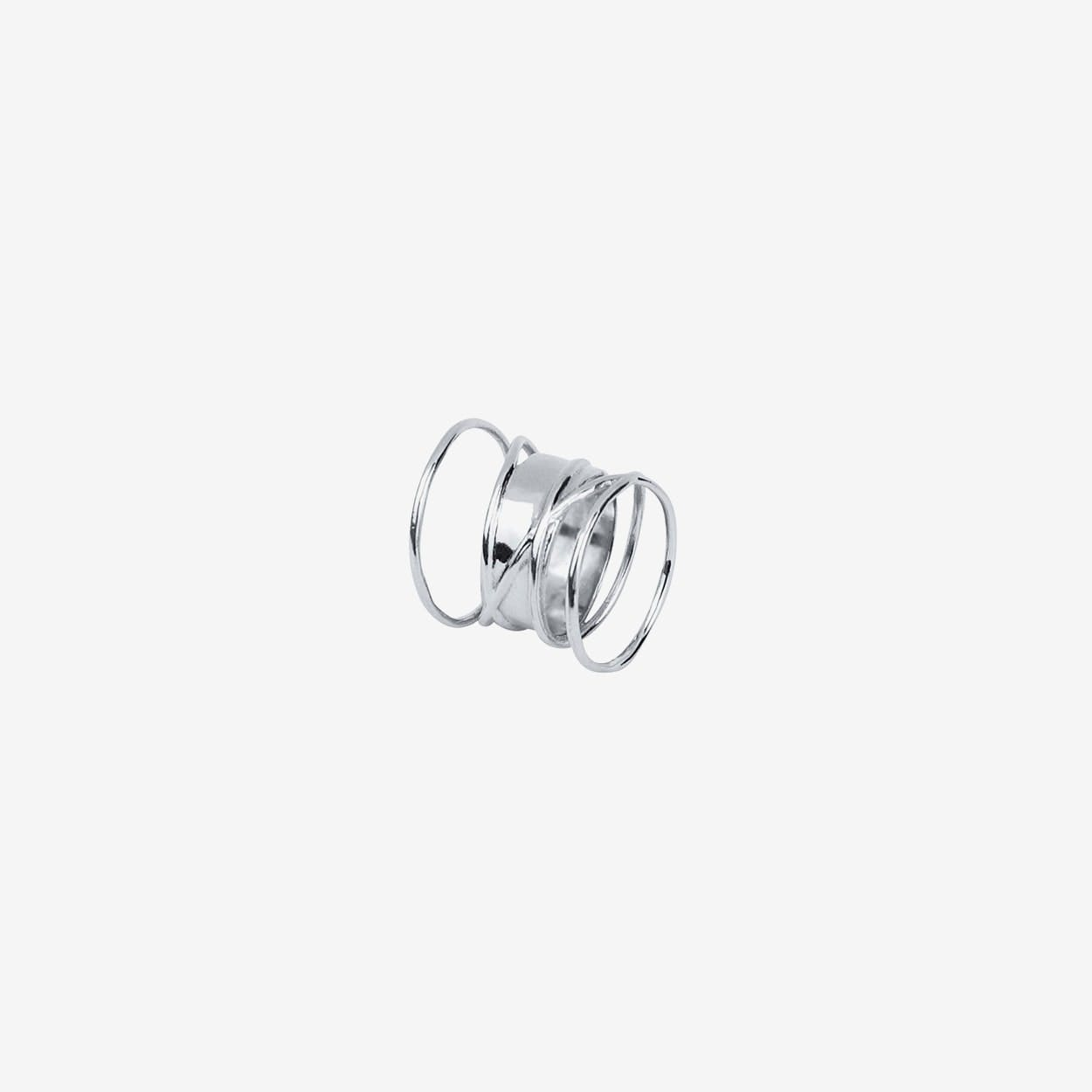 Hypnotize Ring in Silver - Majune