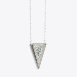 Resin Triangle Necklace in Blue Holo - Rosa Pietsch